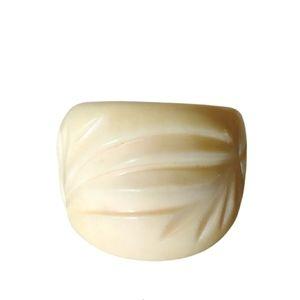 Vintage Art Deco genuine ivory like ring